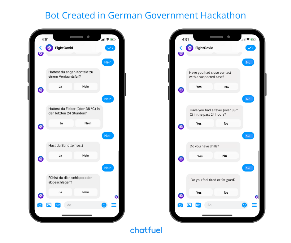 Chatbots help people accessing information about COVID-19