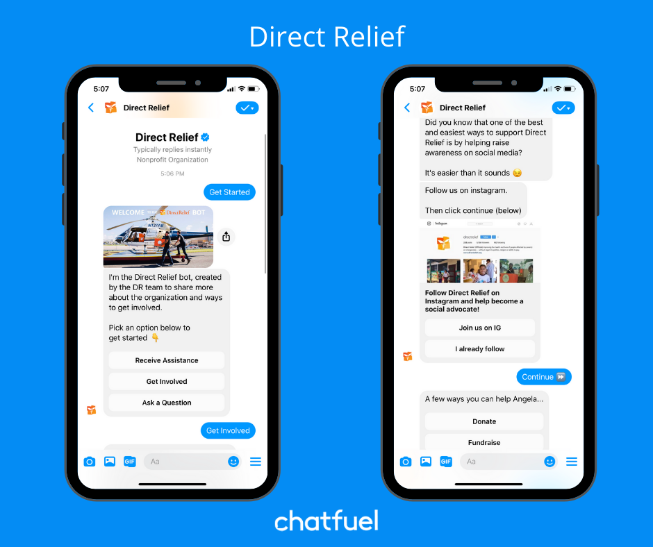 Nonprofit chatbot examples