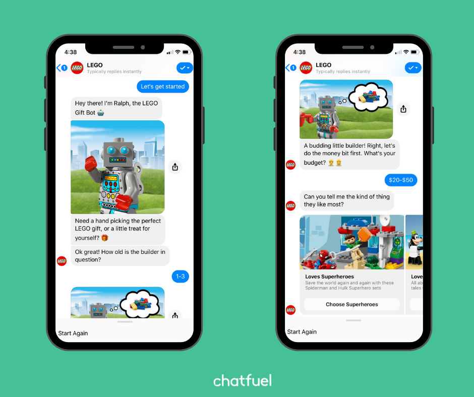 Messenger chatbot for LEGO