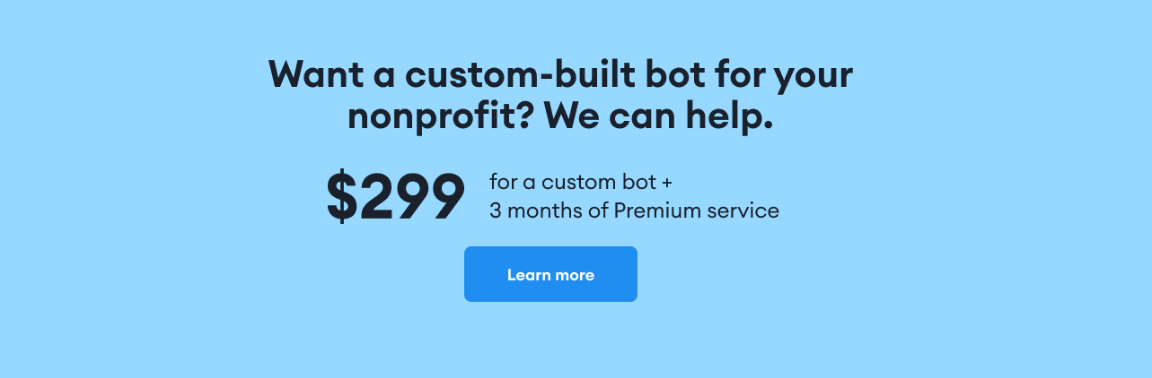 a custom-built chatbot
