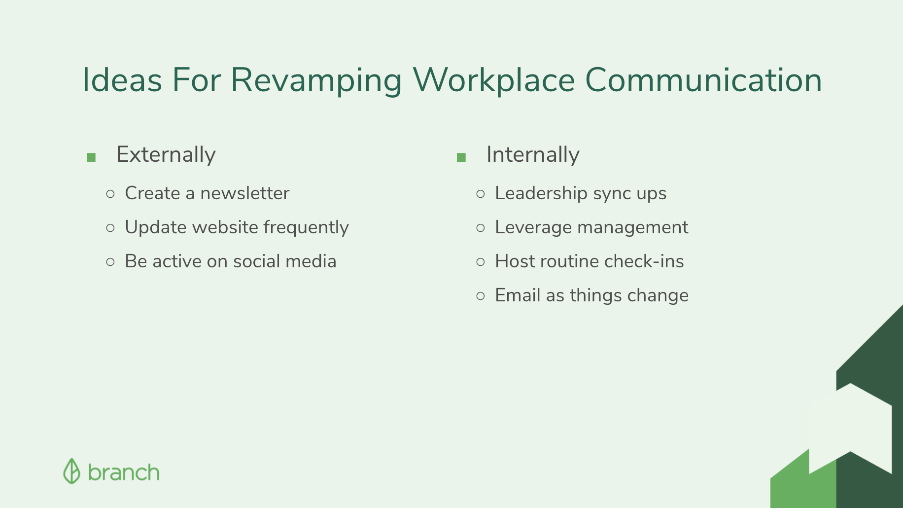 Ideas for Revamping Workplace Communication