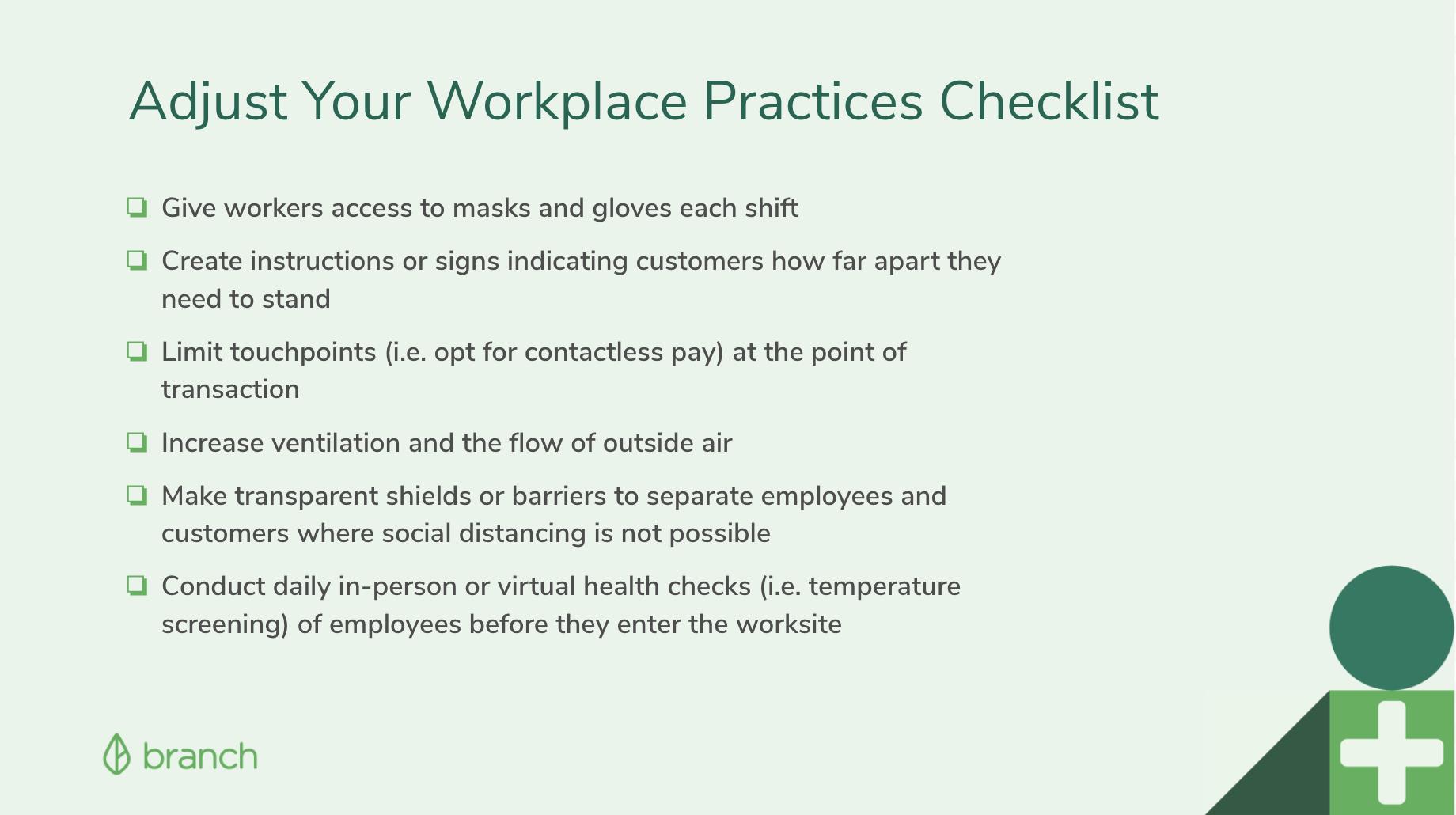 Workplace Adjustment Checklist