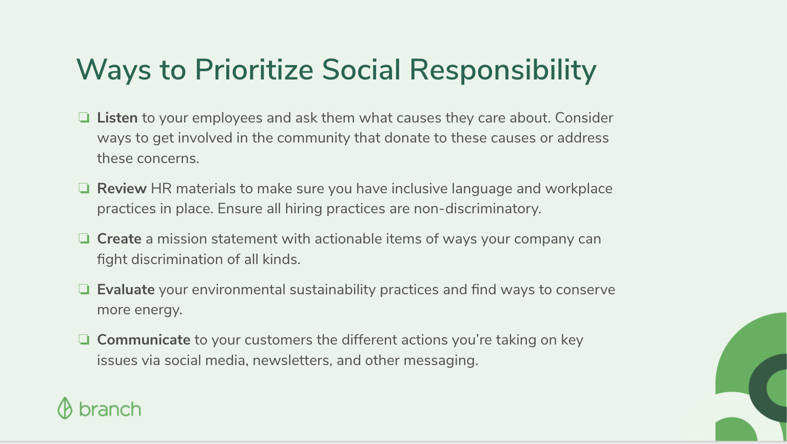 Ways to prioritize social responsibility at your company