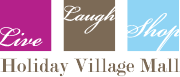Holiday Village logo with link to mall homepage