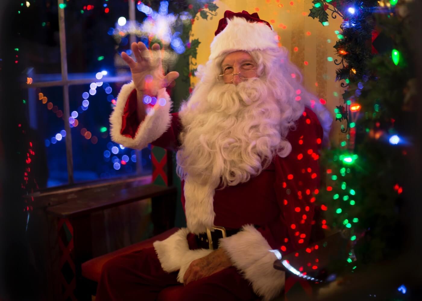 Photo of Santa waving
