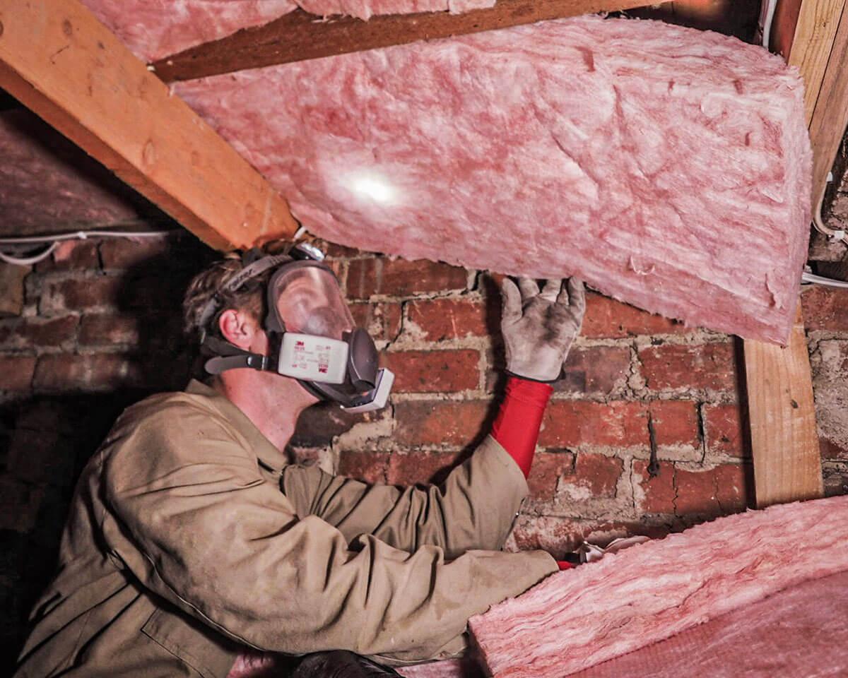 Hobart Underfloor Insulation being installed