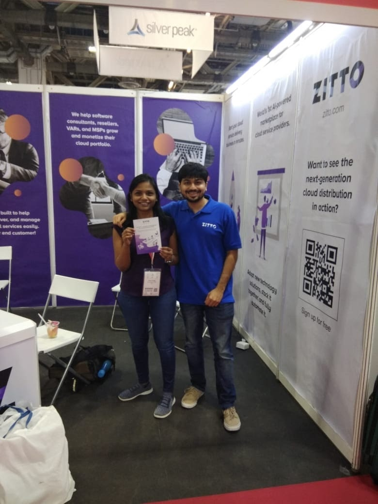 Shruti and Rahil at CloudExpo Asia, Singapore