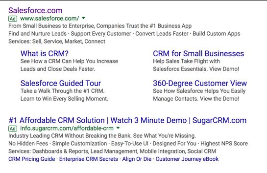 SalesForce on Google