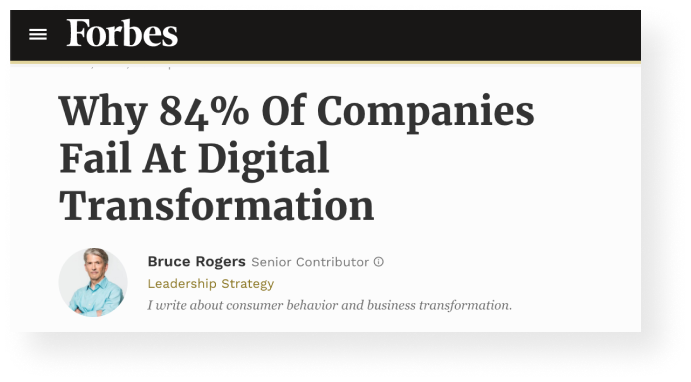 Why companies fail at digital transformation