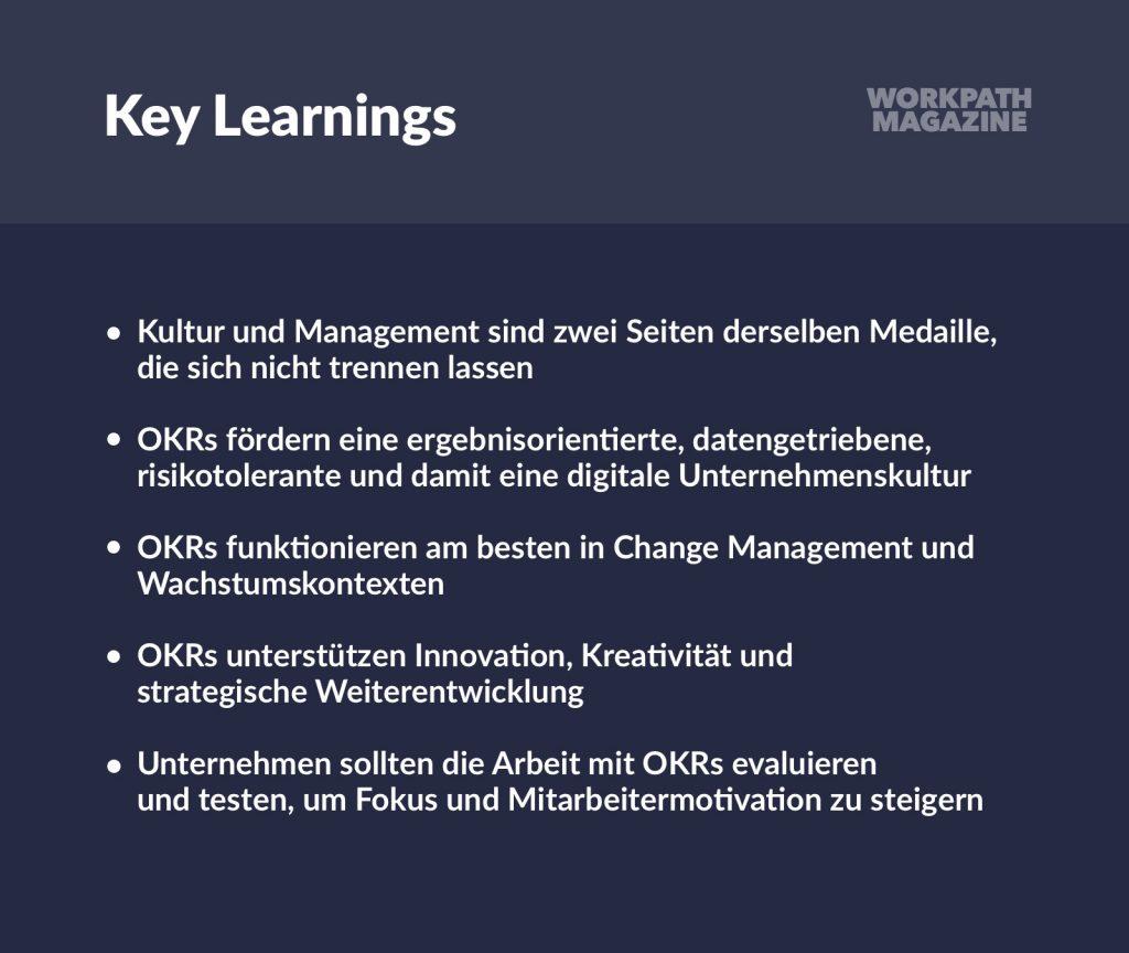 Key Learnings von OKR auf die digitale Organisationskultur
