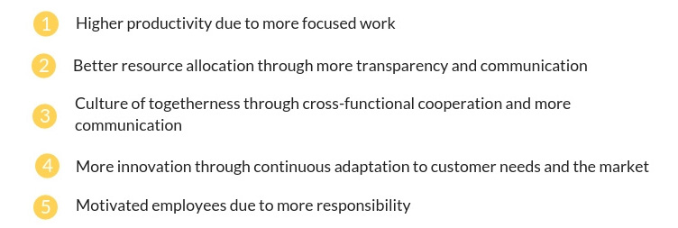 Reasons for working agile