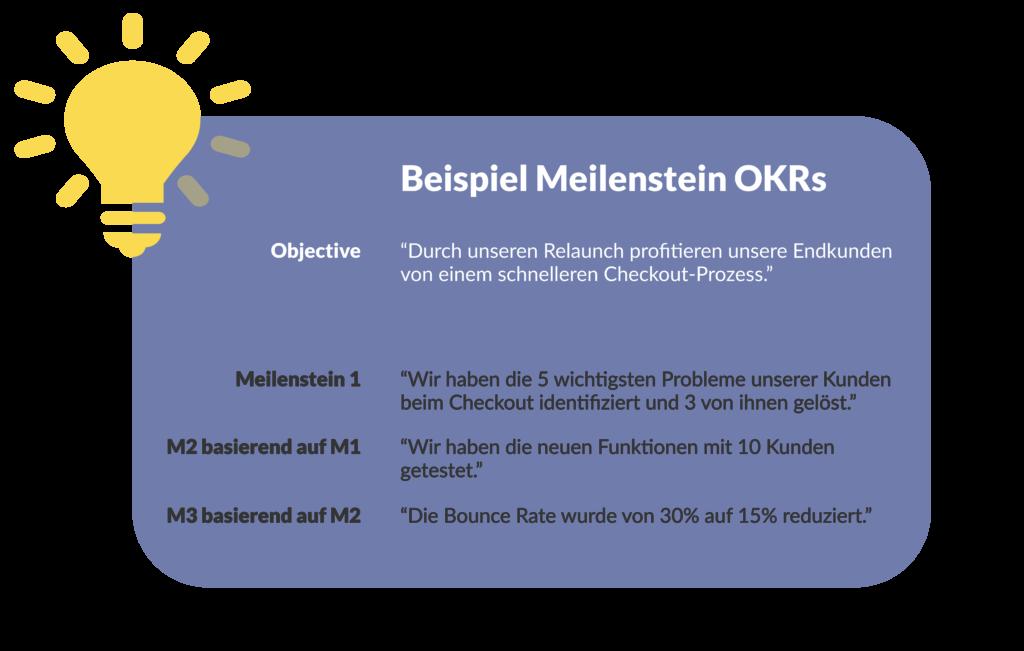 Beispiel für Milestone OKR