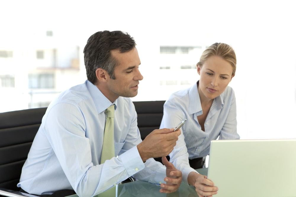 Business Coach with Client