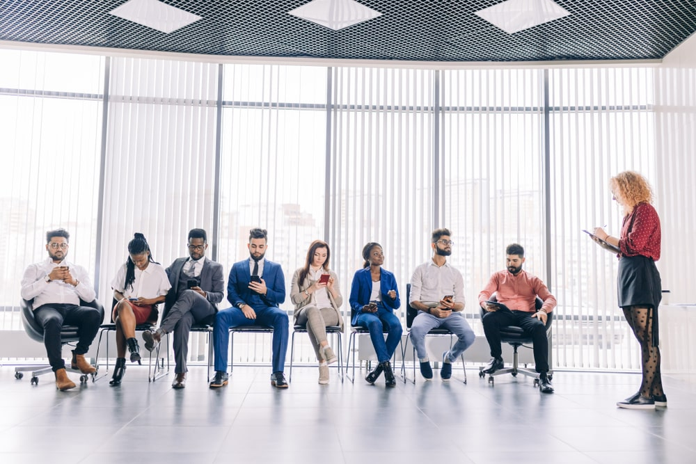 Employees Taking Survey