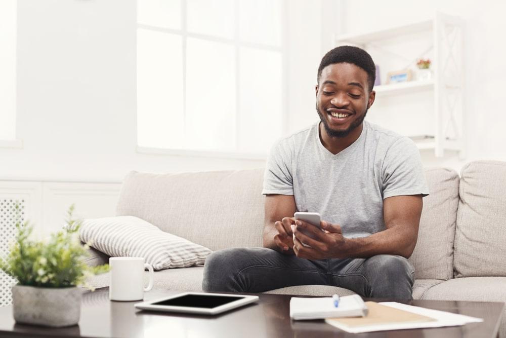 Young Black Virtual Sales Person