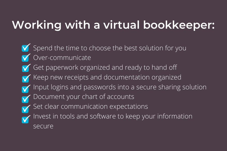 Tips for working with a virtual bookkeeper
