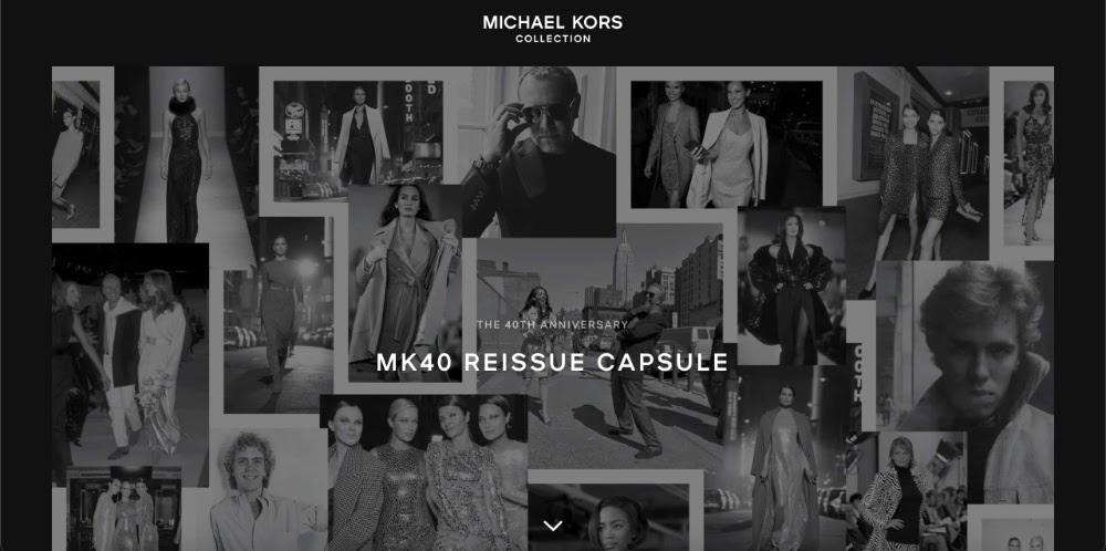 Screenshot of the Michael Kors home page
