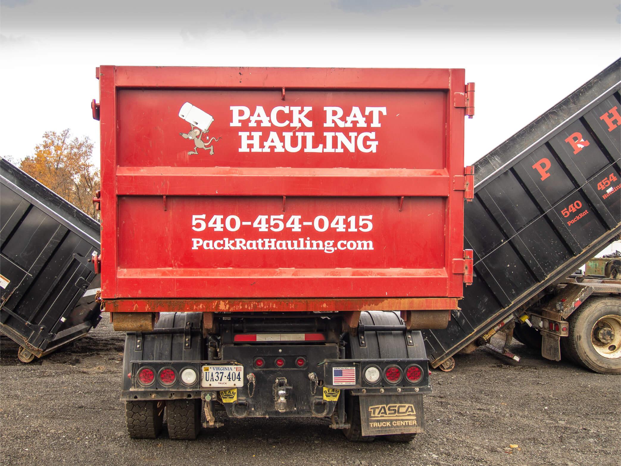 Pack Rat Hauling Website Image