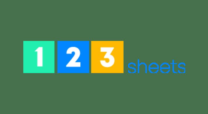 1 2 3 Sheets