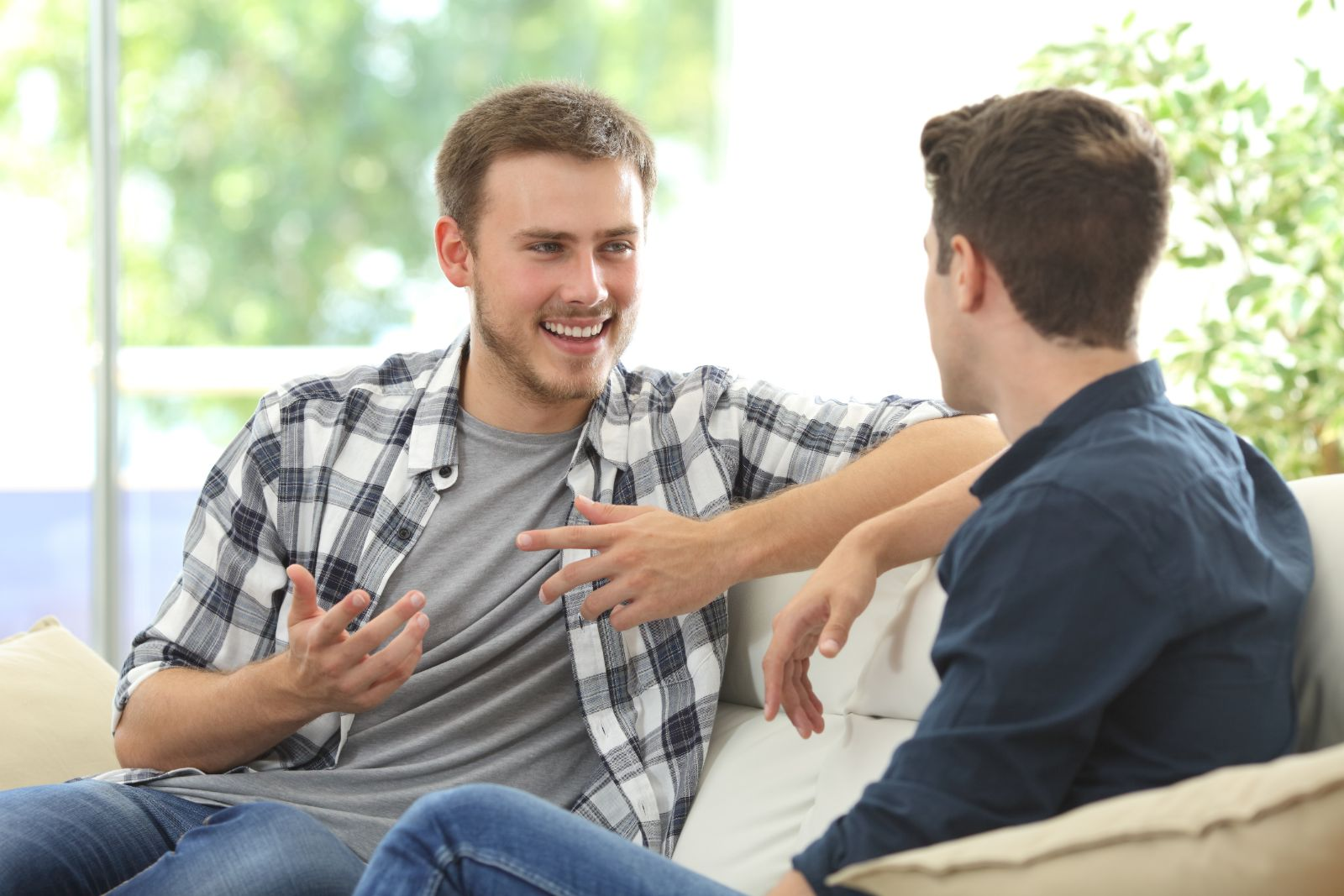 two men discussing something