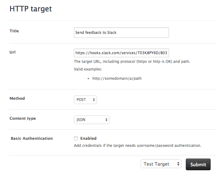 Creating HTTP Targets in Zendesk
