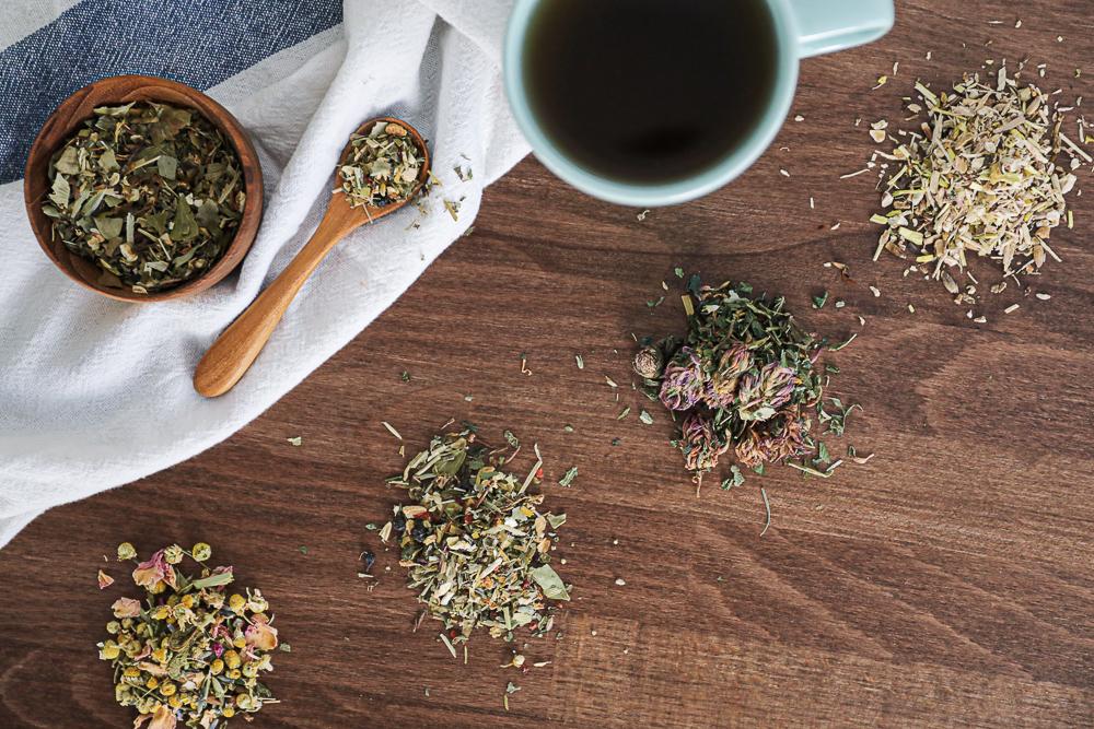 Sip & Om Assorted loose tea leaves