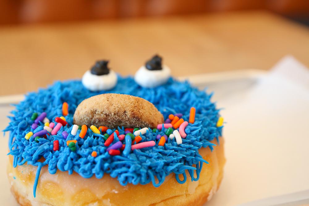 Cookie monster Sesame Street donut