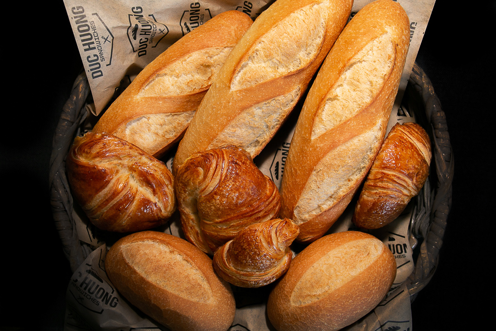 Fresh baked bread at Duc Huong Sandwiches