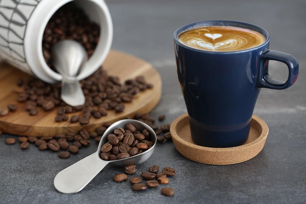 Portable steel coffee bean spoon