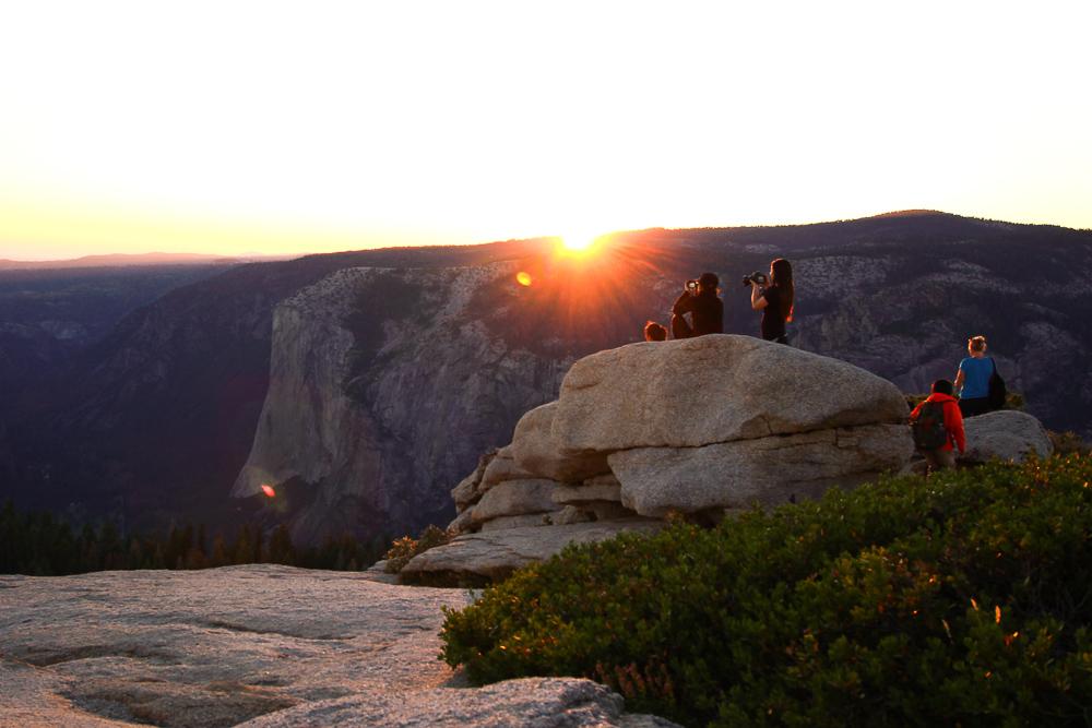 Sunset over Sentinel dome Yosemite National Park