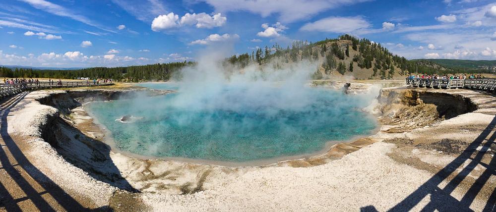 Yellowstone National park natural hot spring
