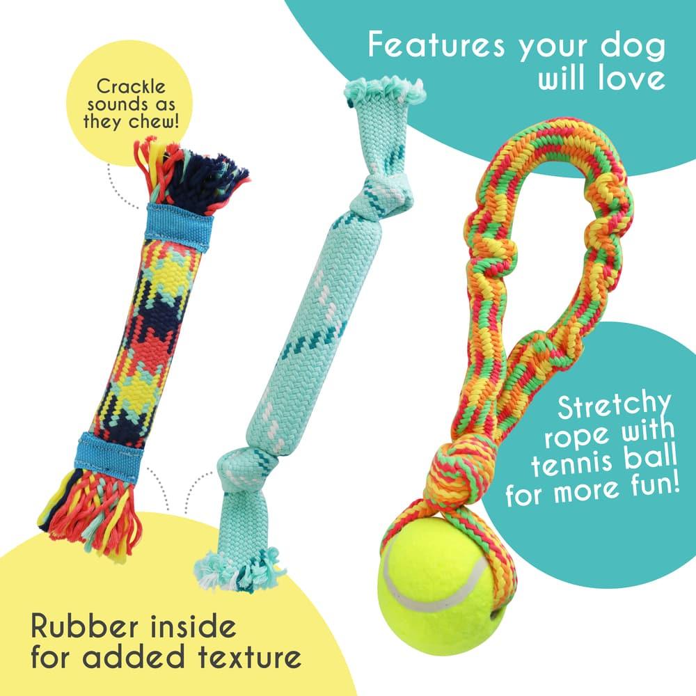 Rocket & Rex dog chew toy assortment