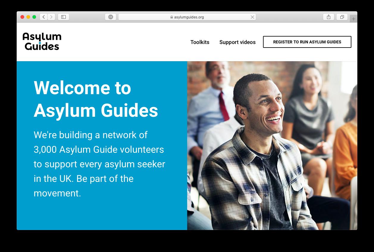 Asylum guides website screenshot
