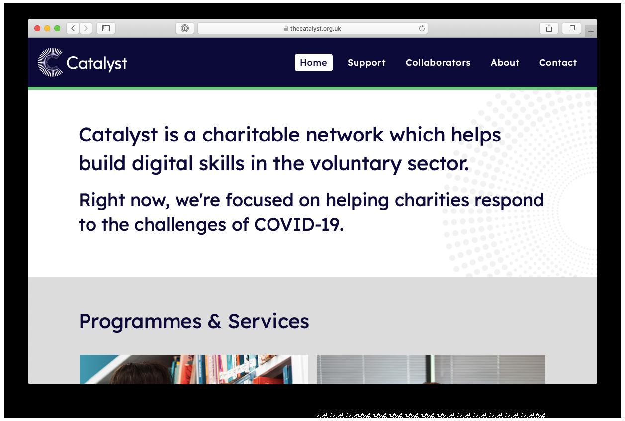 Catalyst website screenshot
