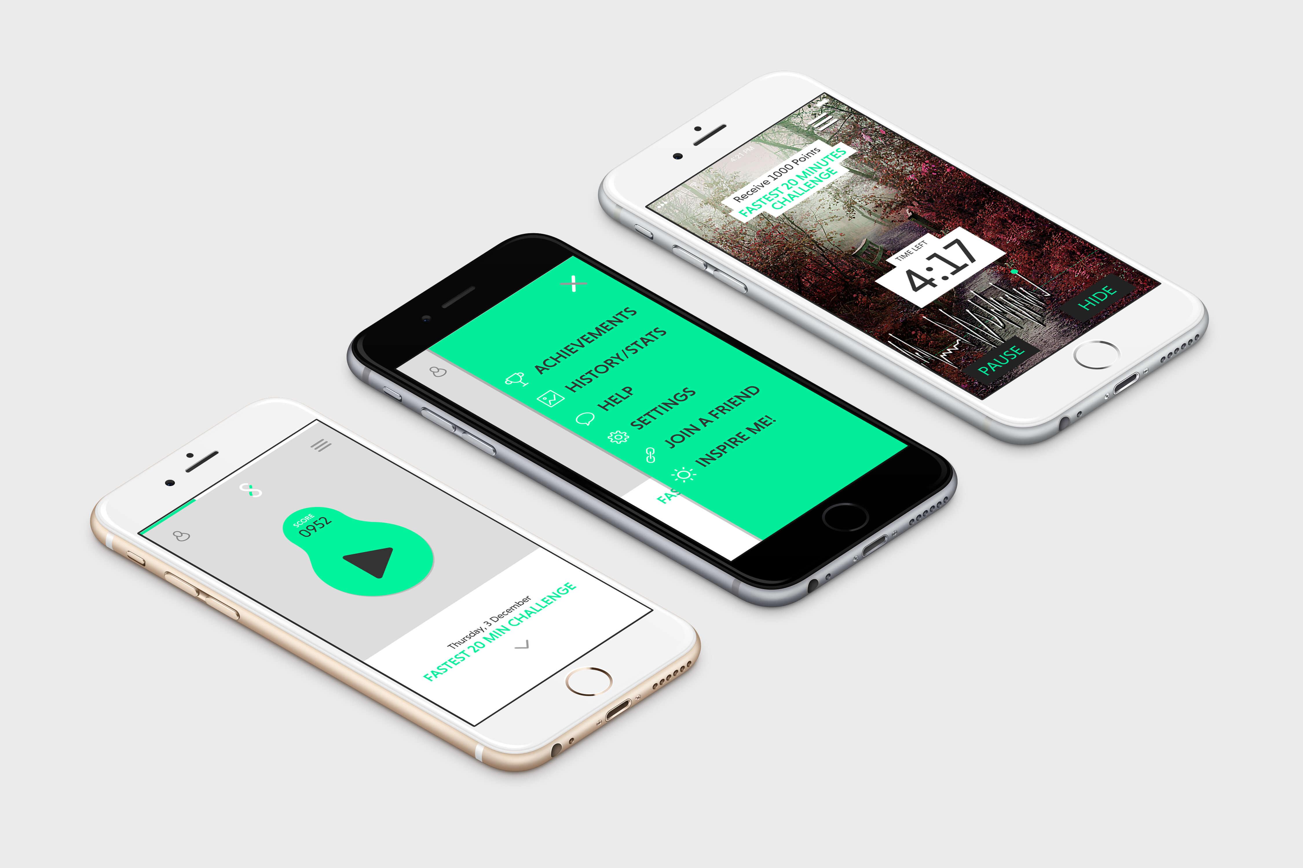 fitness app ios ui design