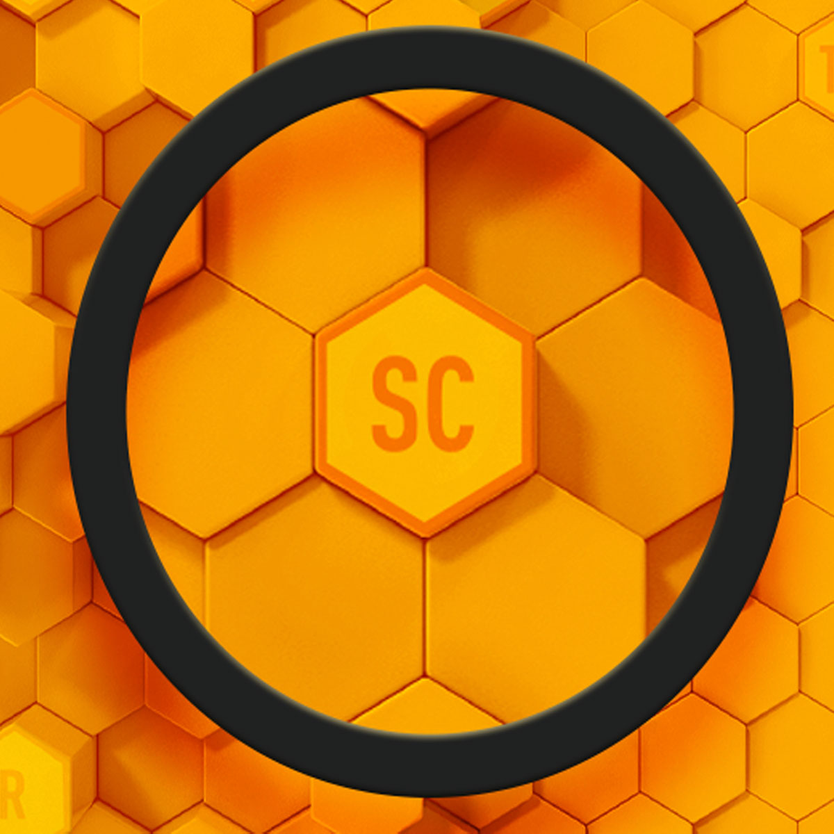 3d magnifying search on elements in honeycomb design
