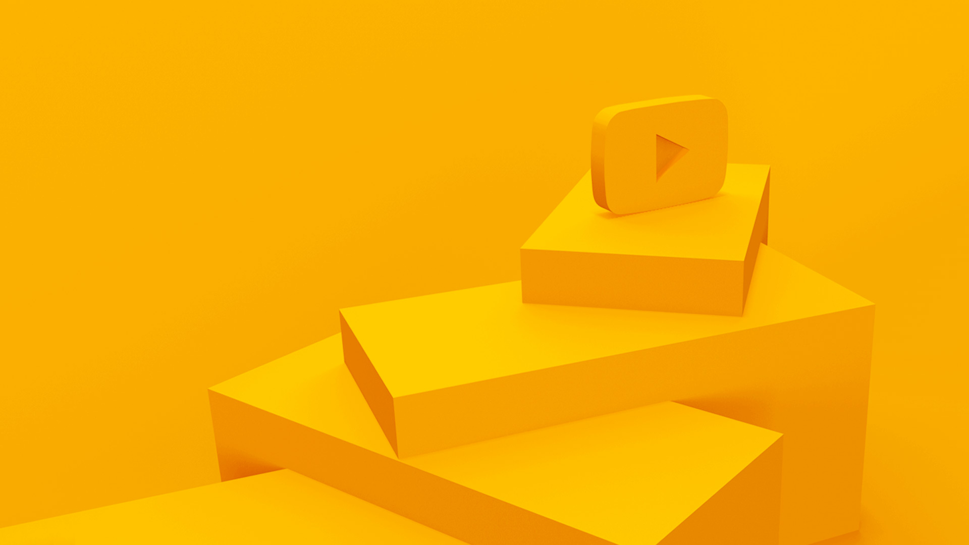3d steps and youtube logo