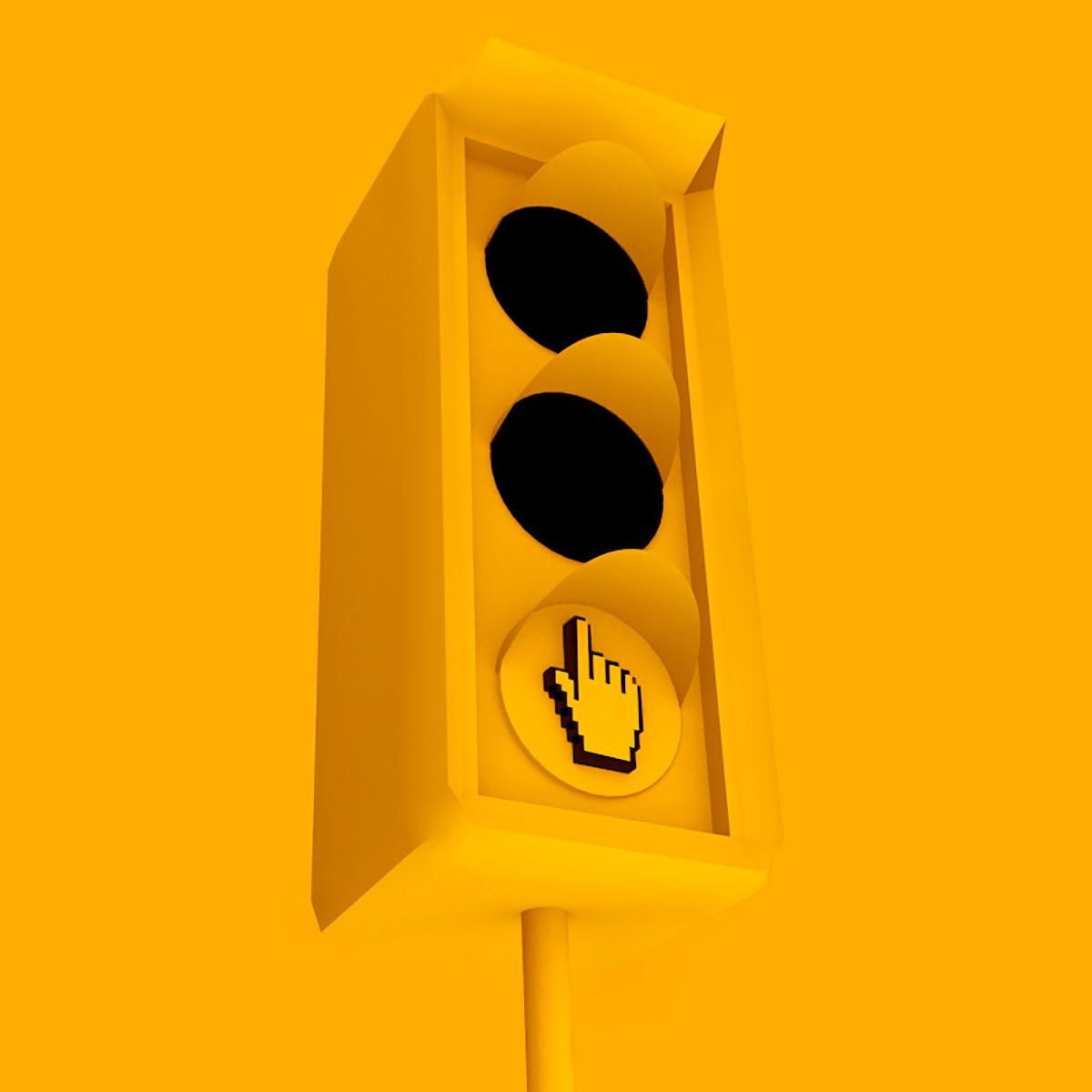 3d footprints and traffic lights