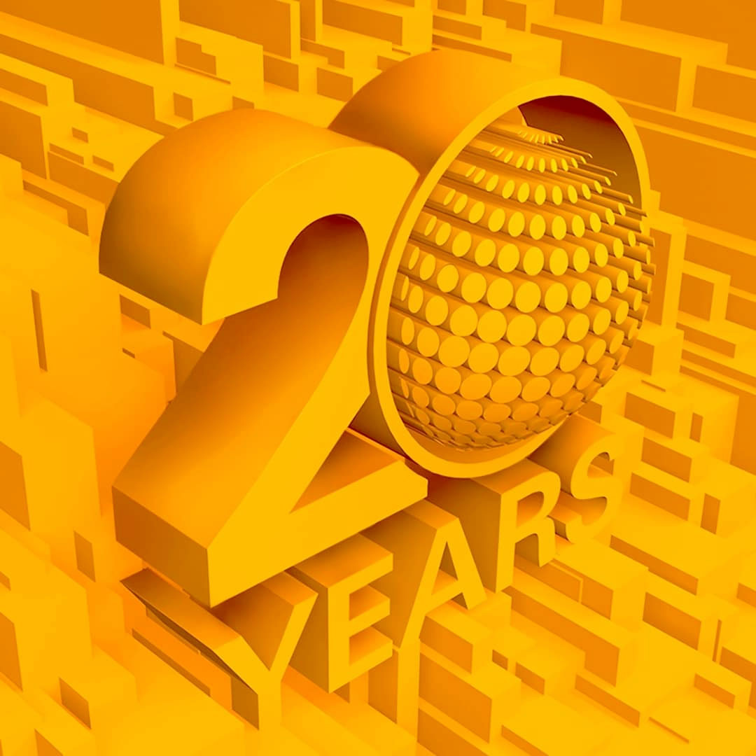 3d image of ICD 20 year logo