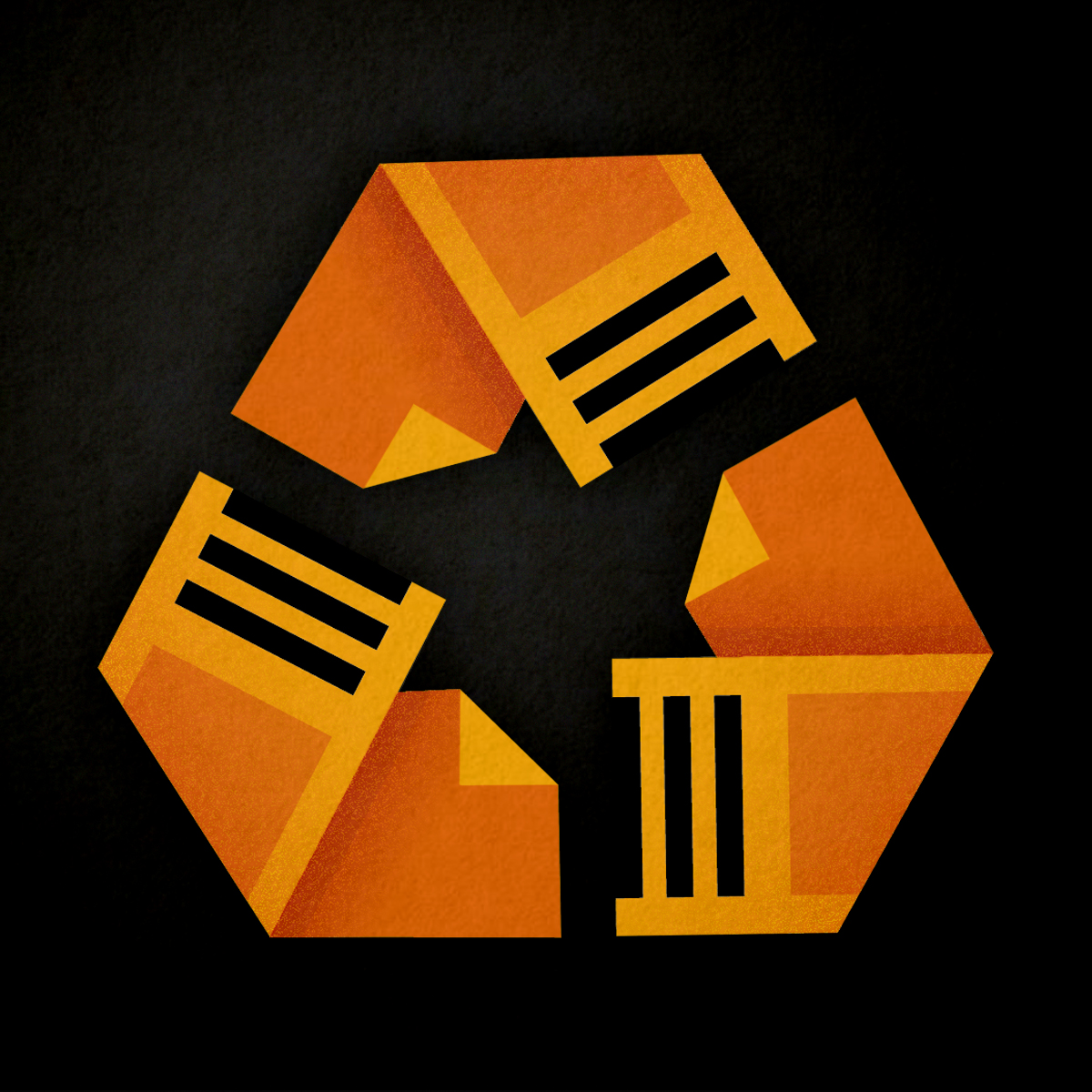 recycling symbol with scripts