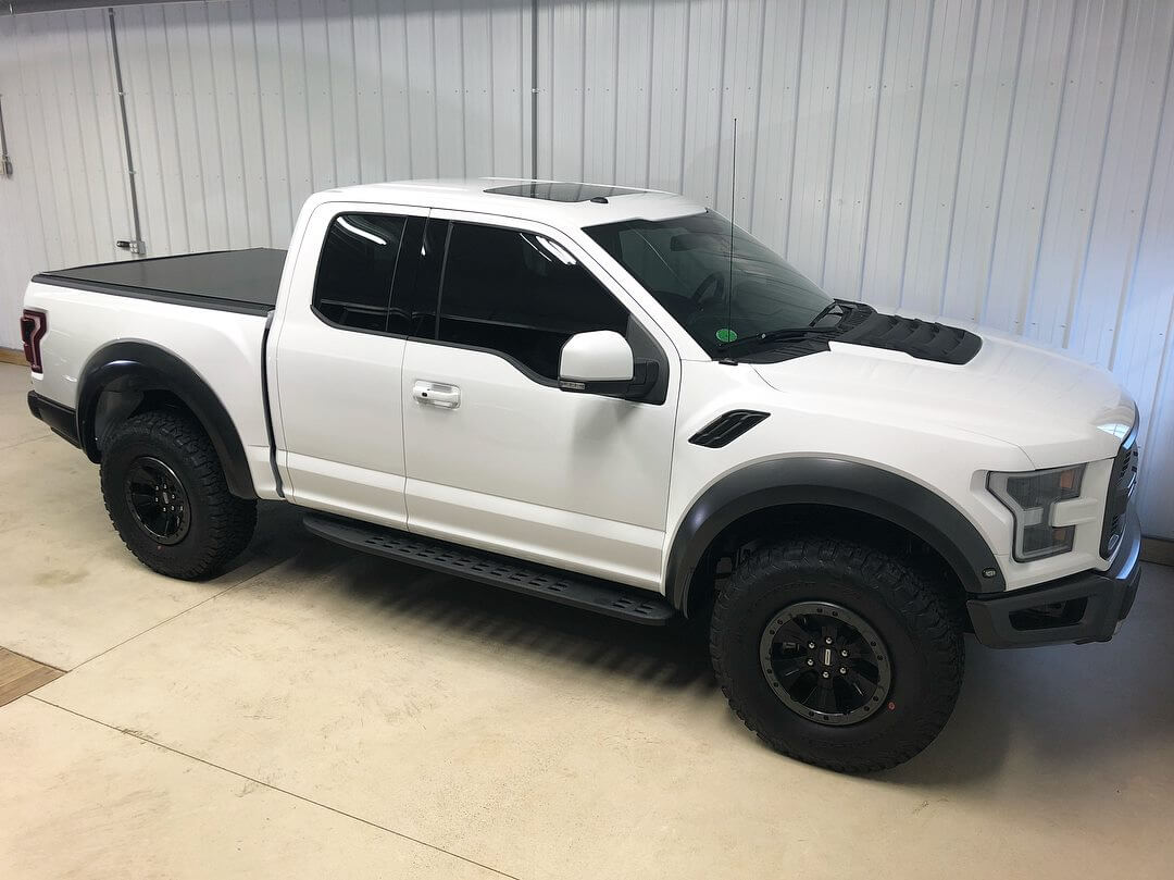 Ford Raptor with car tint in Pittsburgh