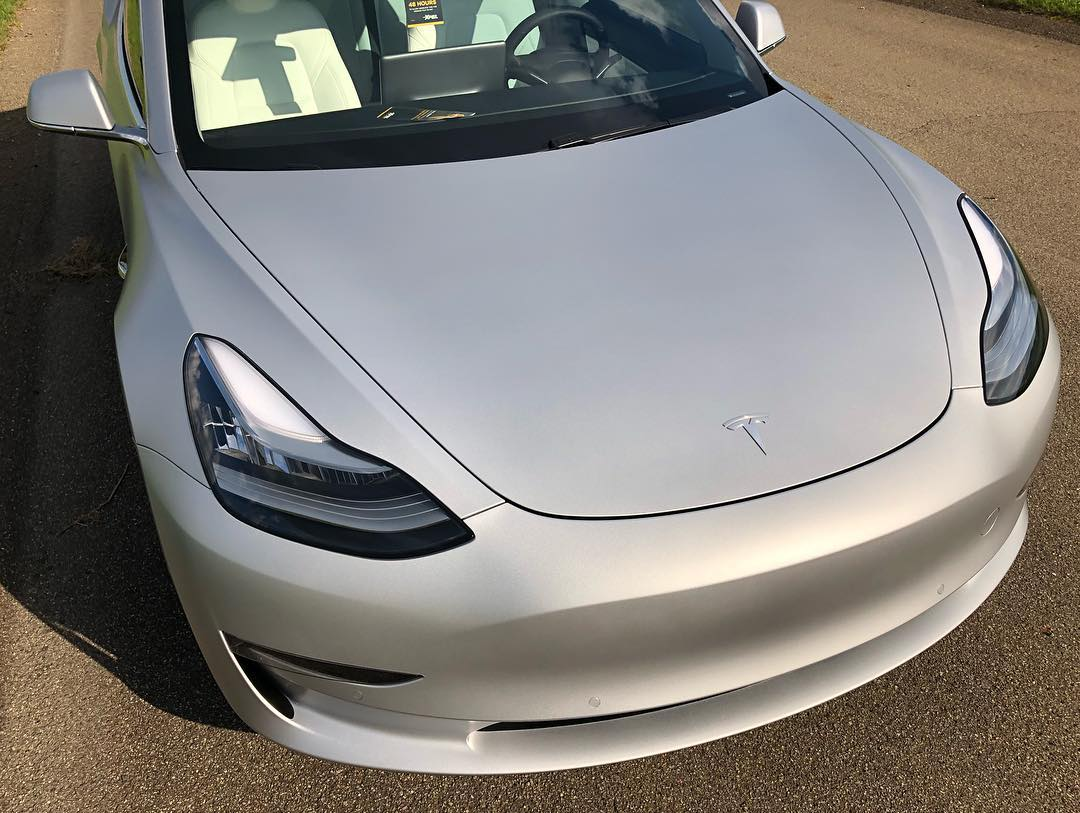 Tesla after XPEL Stealth installation