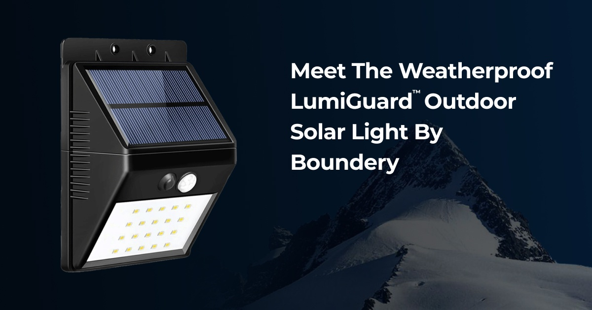 Lumiguard Outdoor Waterproof Solar Sensor Motion Led Light