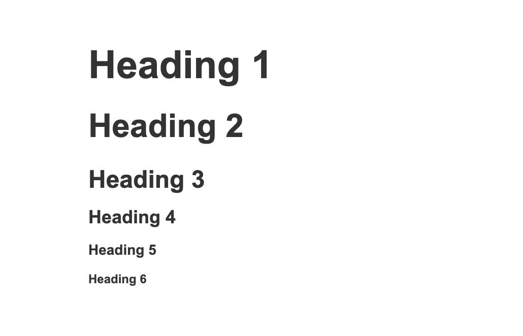 webflow heading types