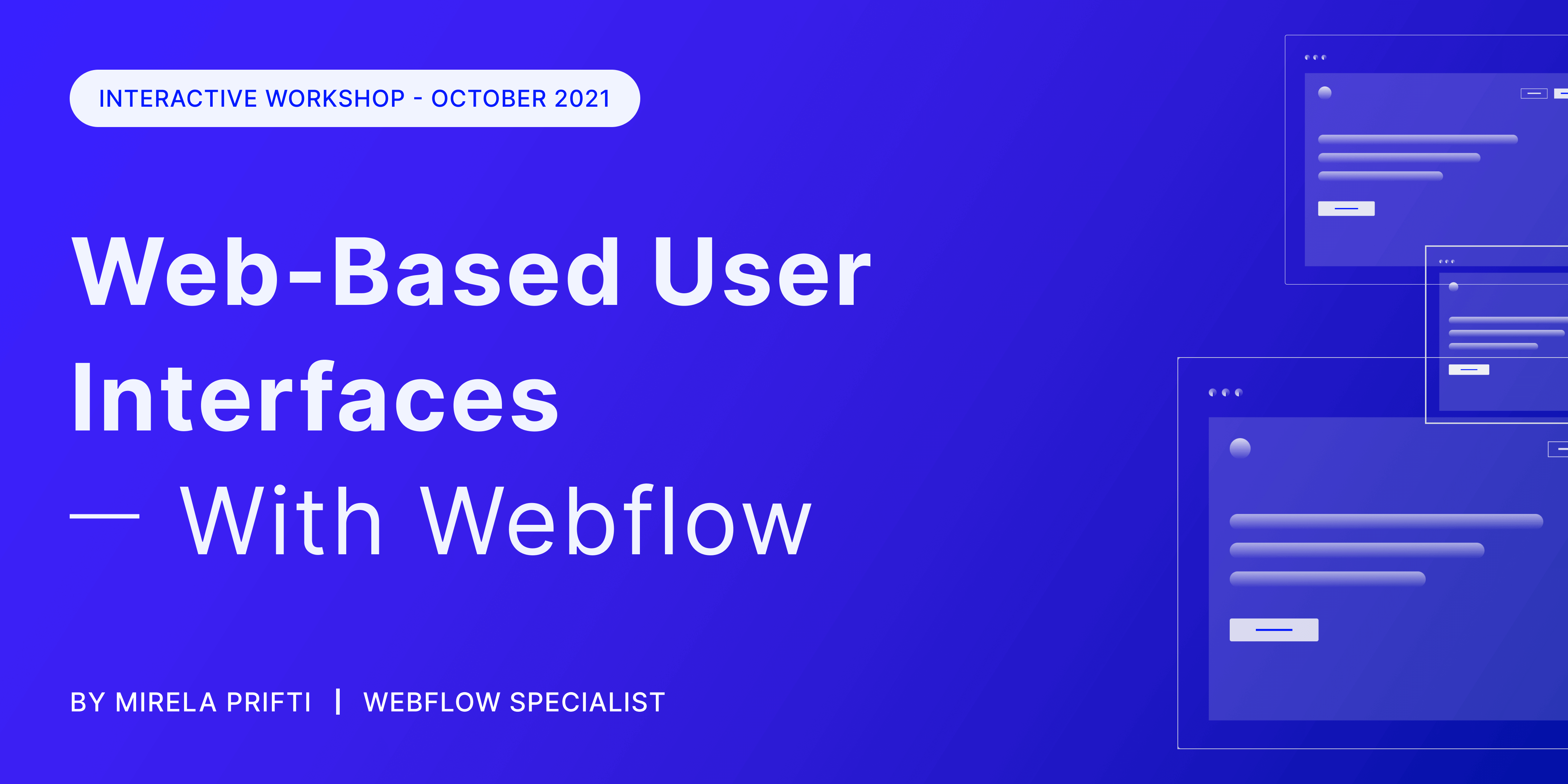 Web-Based User Interfaces With Webflow - Workshop