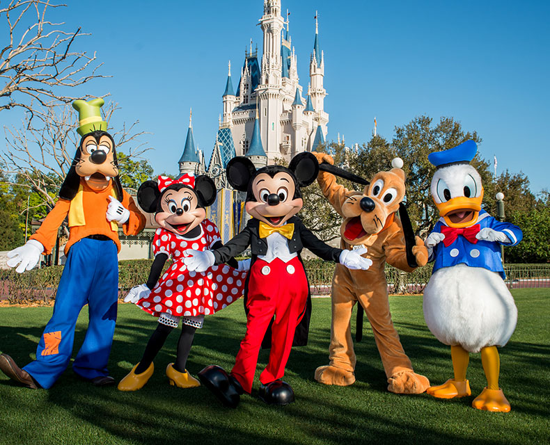 Disney World's Magic Kingdom at Orlando, FL