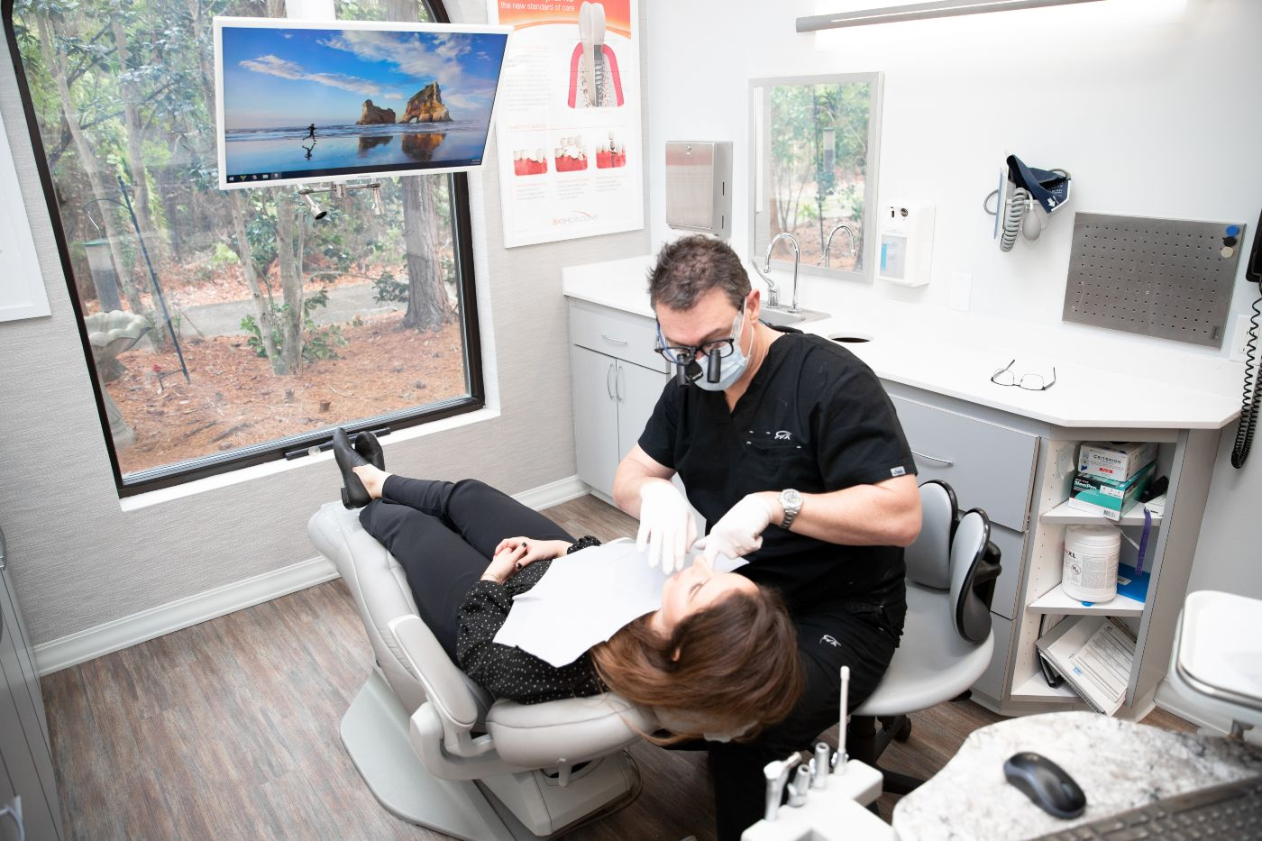 Dr. Schof working on patient in Mandeville