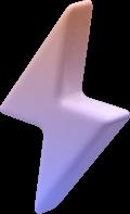 Ett 3d animert lyn for å vise at våre nettsider er lynraske å stabile.