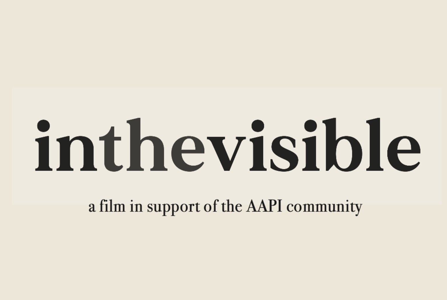 In the Visible