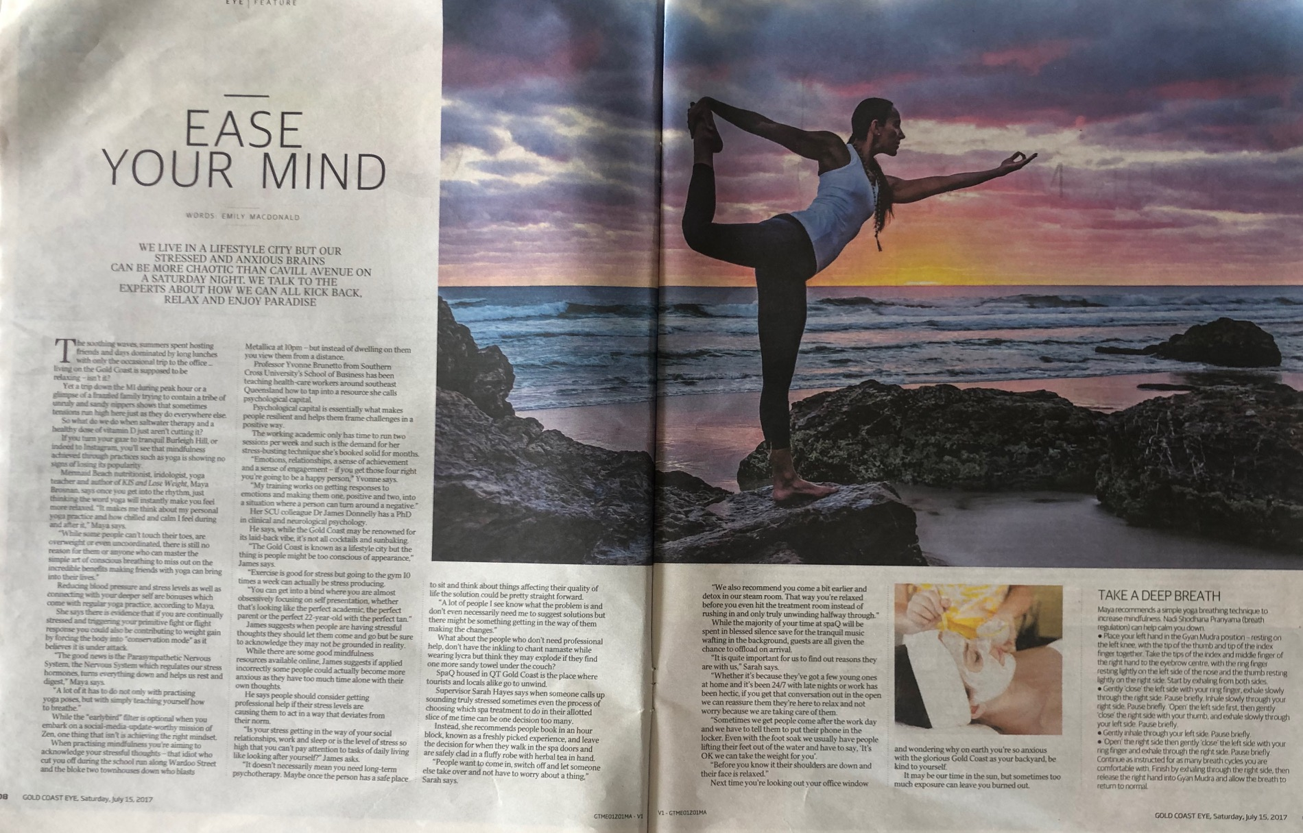 Maya Brosnan Featured in a Gold Coast Eye Magazine article